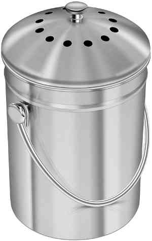 Utopia Kitchen Stainless Steel Compost Bin