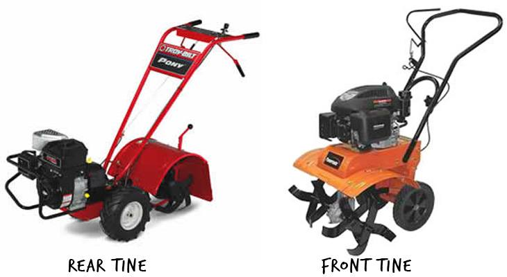 Front Tine vs Rear Tine Tillers