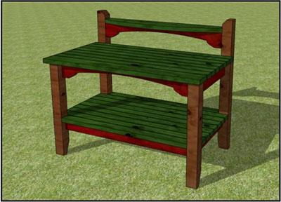 Craftsman Styled Potting Bench