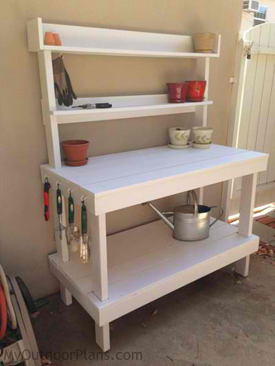 65 DIY Potting Bench Plans (Completely Free) | Epic Gardening