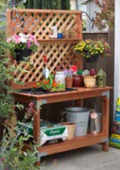 65 diy potting bench plans completely free potting bench with soil bin workwithnaturefo