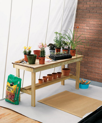 Basic Potting Table With Pot Rail