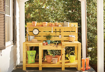 65 diy potting bench plans completely free gardeners ultimate potting bench workwithnaturefo