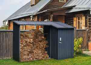 Hanover Steel Shed With Firewood Storage