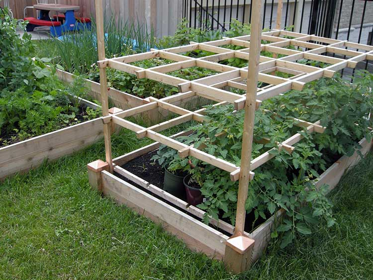 Supported Slat Trellis Box