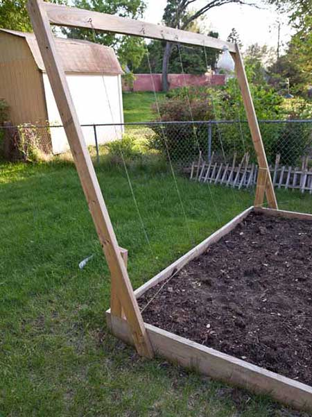 Wood Frame String Trellis