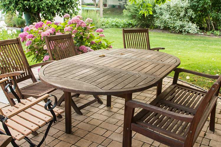 Elegant Protecting wooden and wicker outdoor furniture