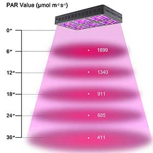 Viparspectra Reflector-Series 900w Height Chart