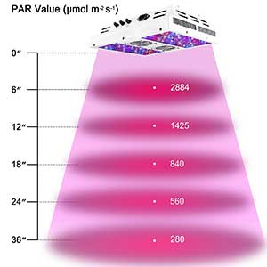 Viparspectra Dimmable Series 450w Height Chart