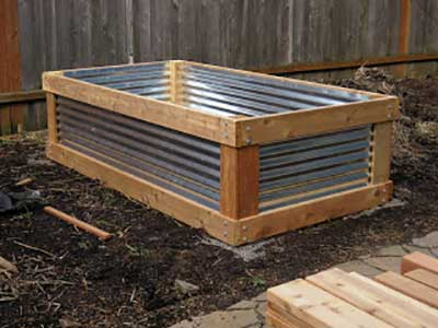Corrugated Aluminum Raised Bed