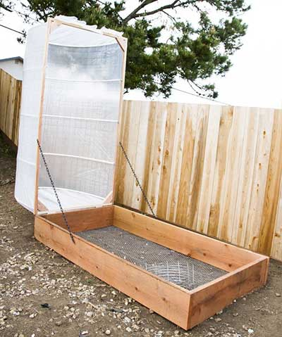 Hoop House Raised Bed