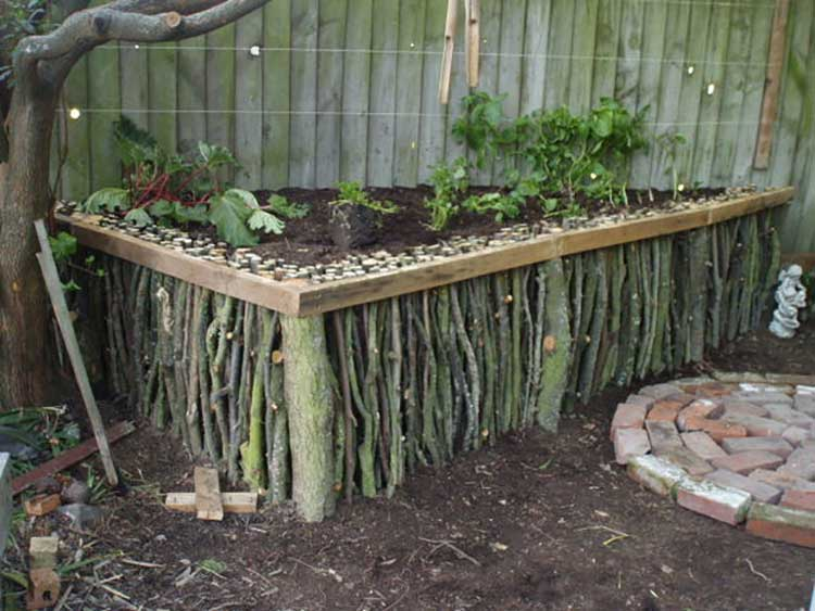 Inspired Natural Wood Raised Bed