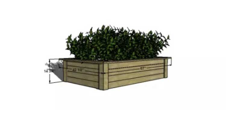 Interlocked Adjustable Wood Planter