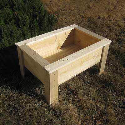 Kid Sized Raised Planter With Legs