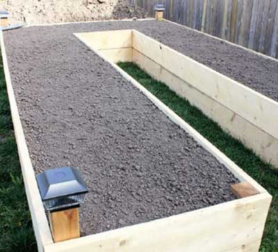 Large U-Shaped Raised Bed