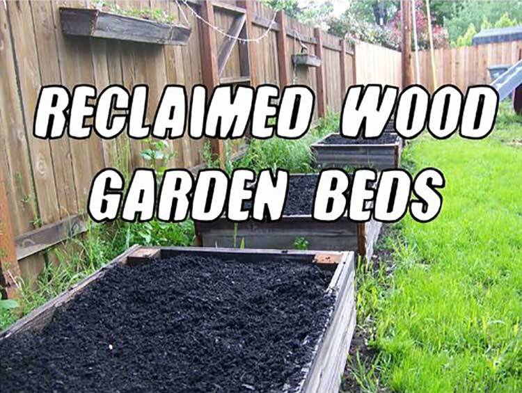 Reclaimed Wood Raised Beds