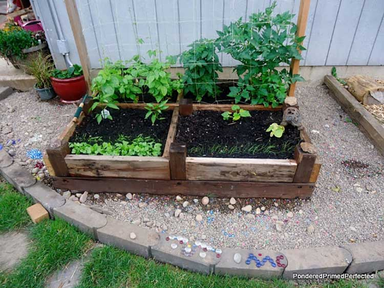 Repurposed Bed Support Raised Bed