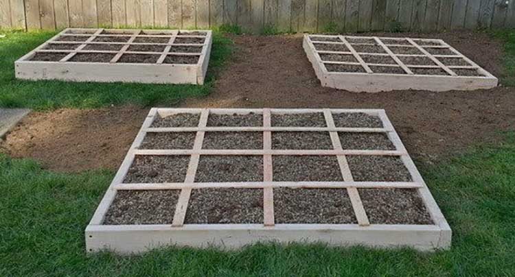 Square Foot Grid Garden Bed