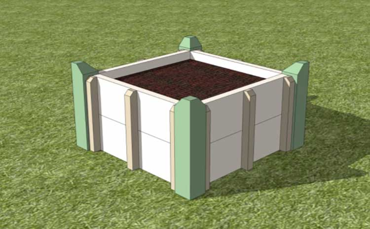 garden a square raised build how to rather graphic bed covered