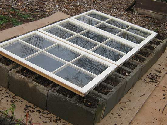 Brick and Window Cold Frame