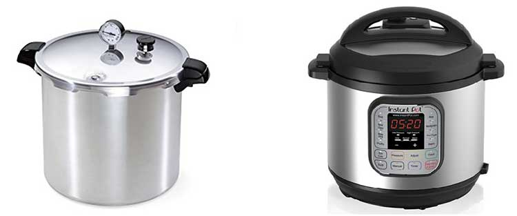 Pressure Canner vs. Pressure Cooker