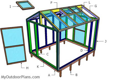 8x10 Wood Greenhouse