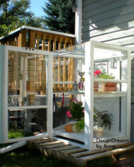 Mini Storm Window Greenhouse