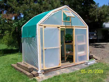 Old Carport Greenhouse