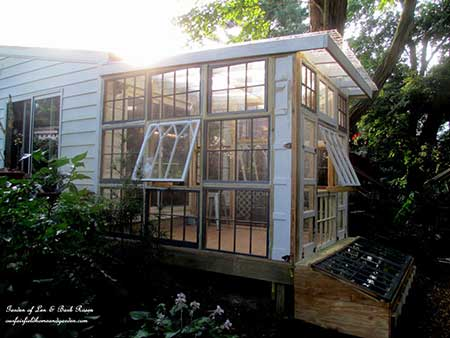 Reclaimed Window Greenhouse