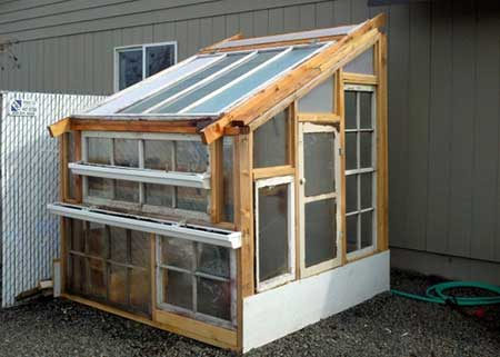 Reclaimed Wood And Window Greenhouse