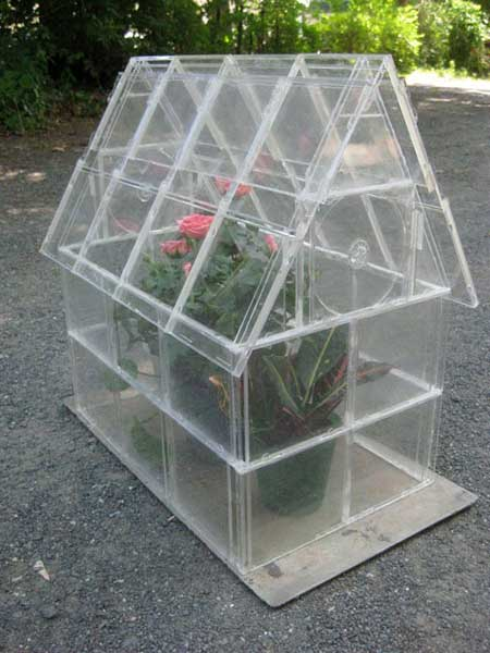 Repurposed CD Case Greenhouse