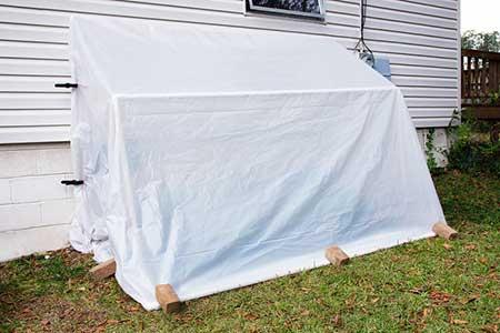 Wall-Mounted Folding Greenhouse