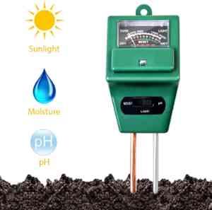 3-in-1 Soil Moisture/Light/pH Tester
