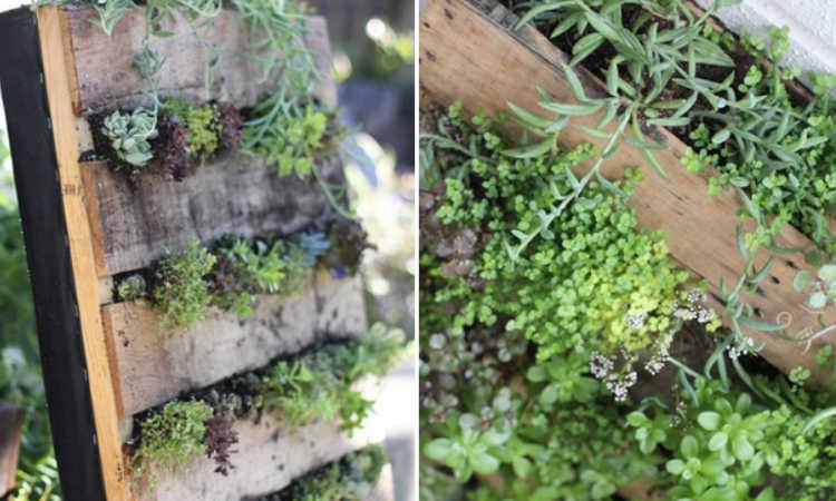 hanging pallet planter