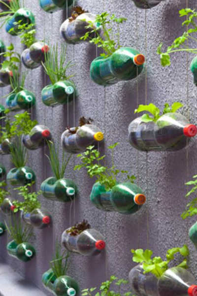 soda bottle wall