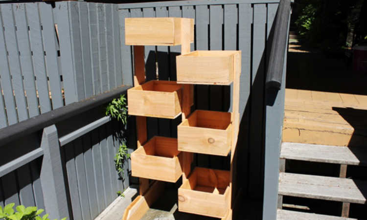 tiered box planter towers