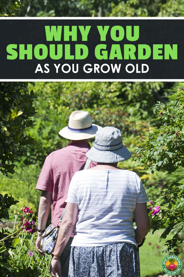 Don\'t give up your garden as you grow old! Elderly gardening is a great source of physical activity and mental stimulation. Read all about the amazing benefits here!