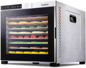 Ivation 10 Tray Commercial Food Dehydrator