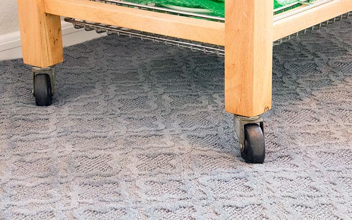 Cutting board feet on carpet