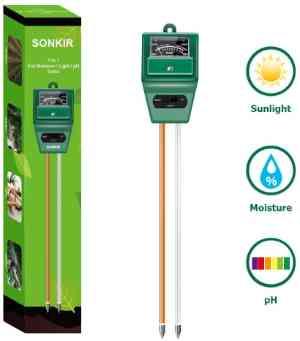 Sonkir Soil Moisture/Light/pH Tester