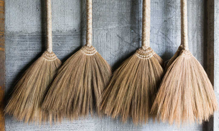 Filipino handmade brooms