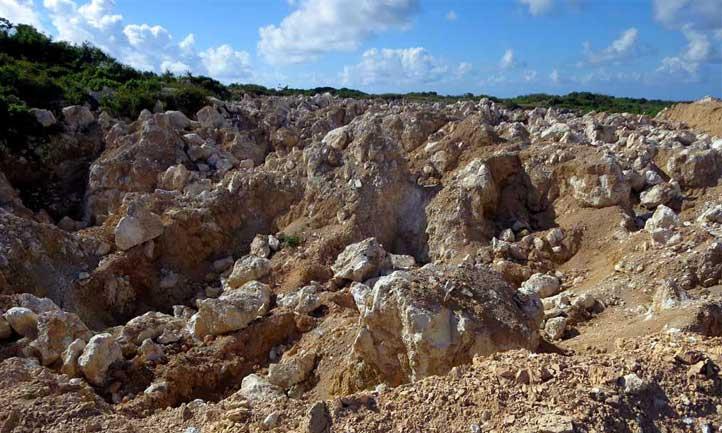 A rock phosphate mine