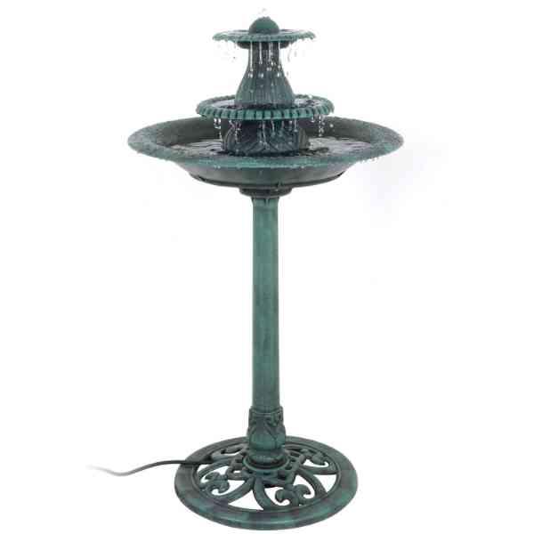 Nova 3-Tier Pedestal Bird Bath Fountain