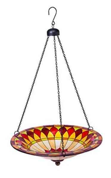 Tiffany-Inspired Hanging Bird Bath Bowl
