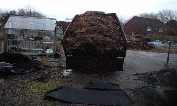 Steer manure delivery