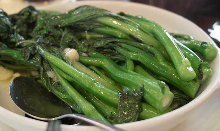 Cooked Chinese broccoli